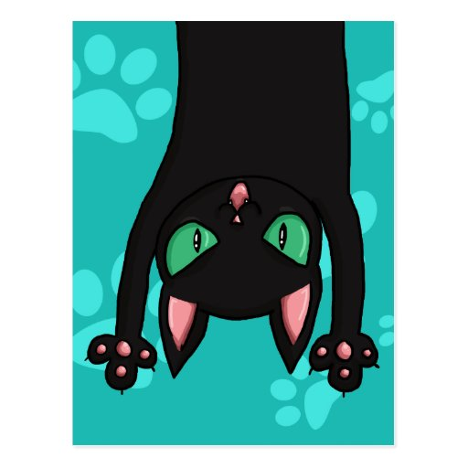 Black Cat jumping out Postcards