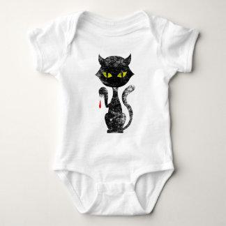 Black Cat Kills Baby Bodysuit