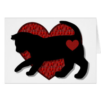 Black Cat Kind of Love Card