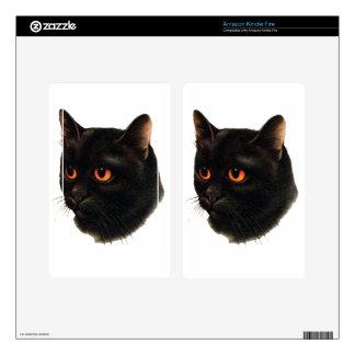 Black Cat Kindle Fire Skins