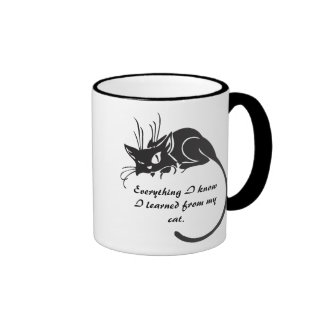 Black Cat Knowledge Mug