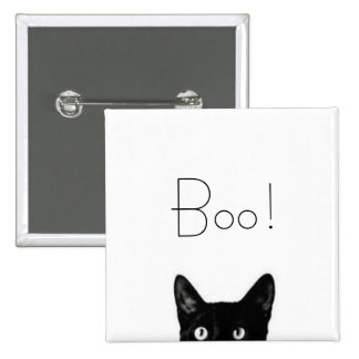 Black Cat Lady Vintage Button