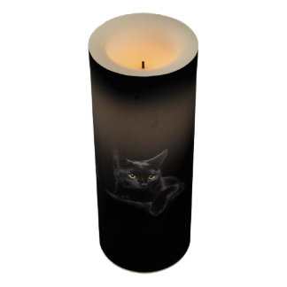Black Cat Large Flameless Candle