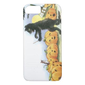 Black Cat Leading Jack O' Lantern Halloween Choir iPhone 8/7 Case