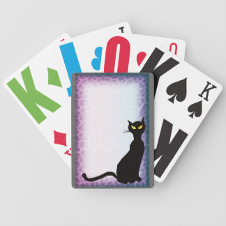 black cat leopard bicycle playing cards