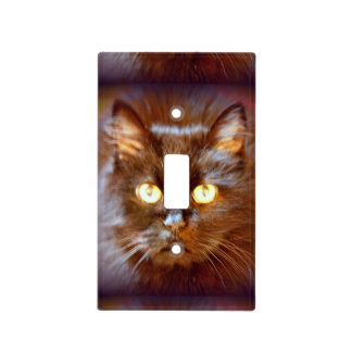 black cat light switch cover