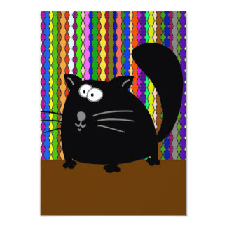 Black Cat Lined Wall Paper 1 Card