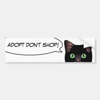 Black Cat Love Adopt a Shelter Cat! Sticker