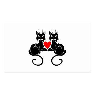 Black Cat Love Business Card Templates