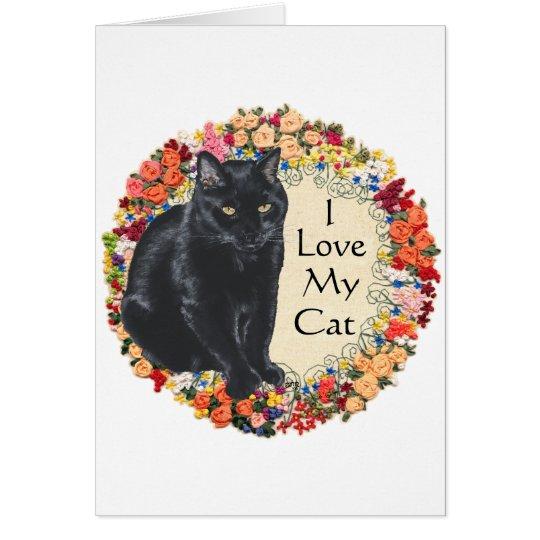 Black Cat Love Card