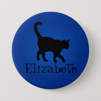 Black Cat Lover - My Name Pinback Button
