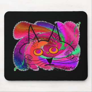 Black Cat Lovers Art Gifts Mouse Pad