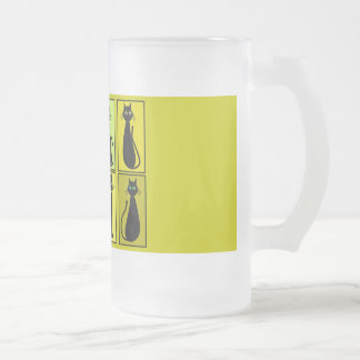 Black Cat Lovers Gifts Frosted Glass Beer Mug