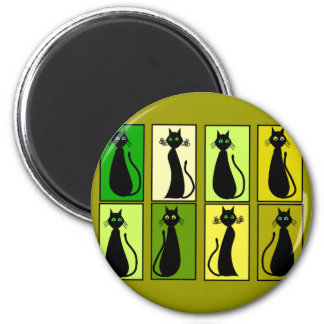 Black Cat Lovers Gifts Magnet