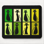 Black Cat Lovers Gifts Mouse Pads