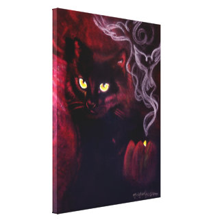 Black Cat Magic Canvas Print