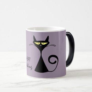 Halloween Themed Black Cat Magic Mug
