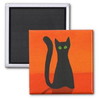 Black cat Magnet magnet