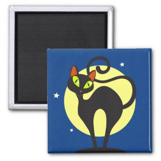 Black Cat Refrigerator Magnet