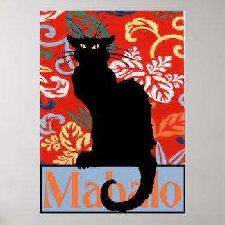 Black Cat, Mahalo, Thanks, Poster