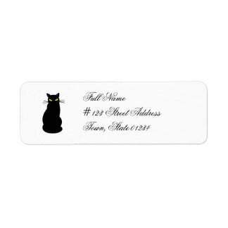 Black Cat Mailing Labels