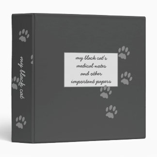 Black Cat Medical Notes Storage Binder