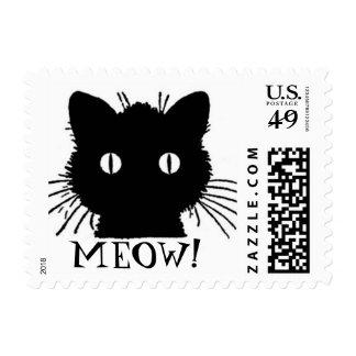 Black Cat/ Meow Postage