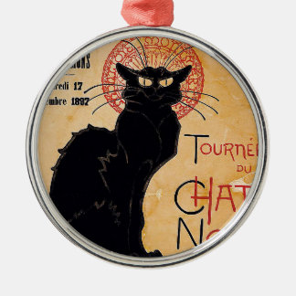 Black Cat Metal Ornament