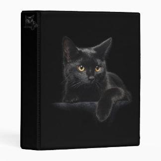 Black Cat Mini Binder