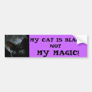 black-cat-moon, MY CAT IS BLACK..., NOT, MY MAGIC! Car Bumper Sticker