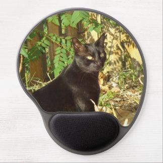 Black Cat Morning Sun Gel Mouse Pad