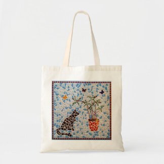Black Cat Mosaic Tote Bag