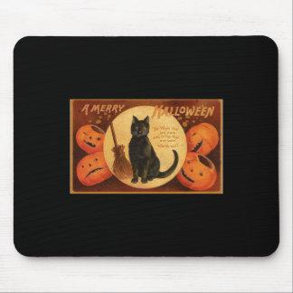 Black Cat Mouse Pad