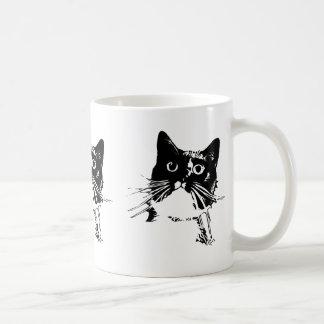 Black Cat Mug-Junior Classic White Coffee Mug