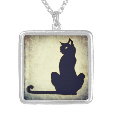 Halloween Themed Black Cat Necklace