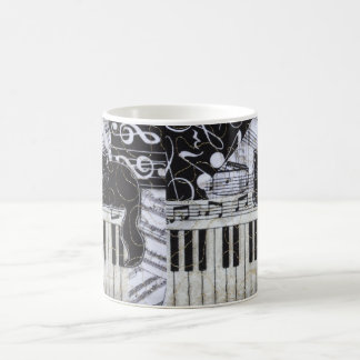 Black Cat on a Keyboard Coffee Mug
