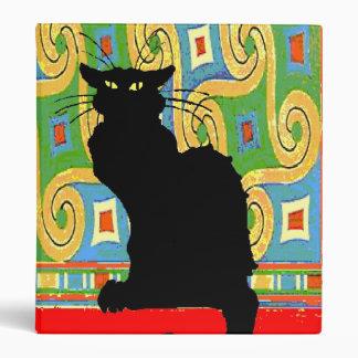Black Cat on Abstract Wallpaper Vinyl Binders