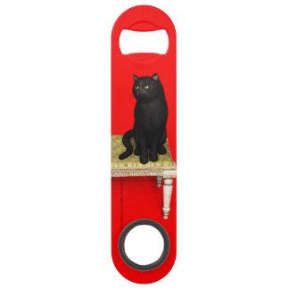 Black cat on the stool speed bottle opener