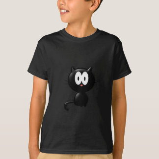 Black Cat on white background T-Shirt