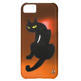 BLACK CAT orange iPhone 5C Case