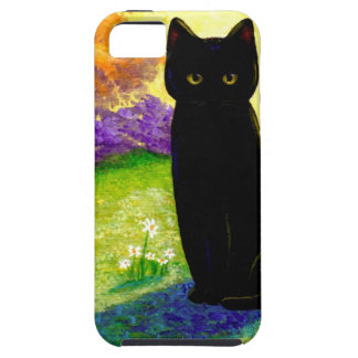 Black Cat Original Art Colorful Creationarts LRA iPhone SE/5/5s Case