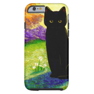 Black Cat Original Art Colorful Creationarts LRA Tough iPhone 6 Case