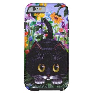 Black Cat Original Art Colorful Creationarts Tough iPhone 6 Case