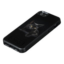 Black Cat OtterBox iPhone SE Case
