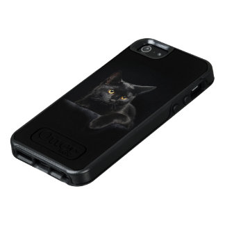 Black Cat OtterBox iPhone SE Case