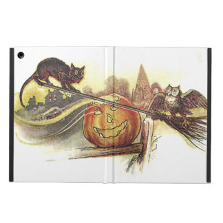 Black Cat Owl Jack O' Lantern Witch's Broom iPad Air Cover