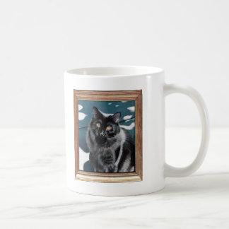 Black Cat Painting Mugs