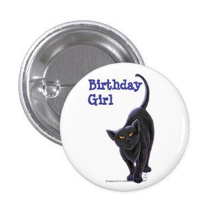 Black Cat Party Center Button