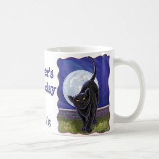 Black Cat Party Center Coffee Mug