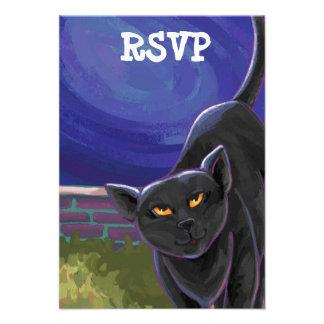 Black Cat Party Center Custom Announcements